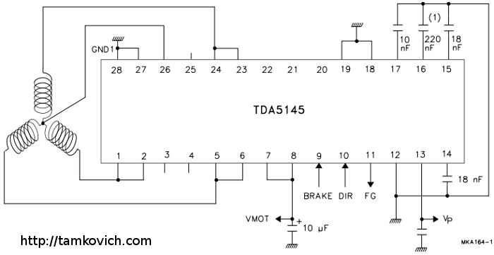 Схема включения двигателя для hdd.